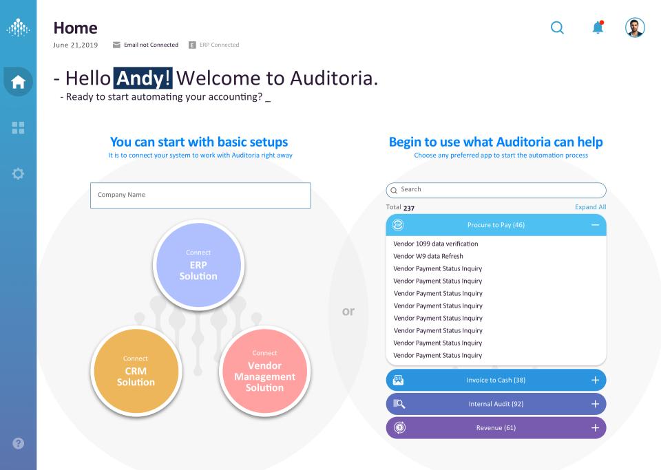 Auditoria SmartFlow Skills screenshot: Auditoria SmartFlow Skills home page