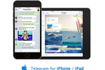 Captura de pantalla de Telegram: A native app is available for iPhone and iPad