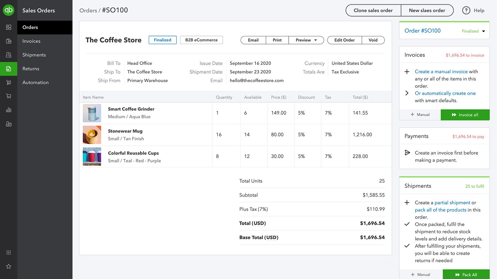 QuickBooks Commerce Software - 2