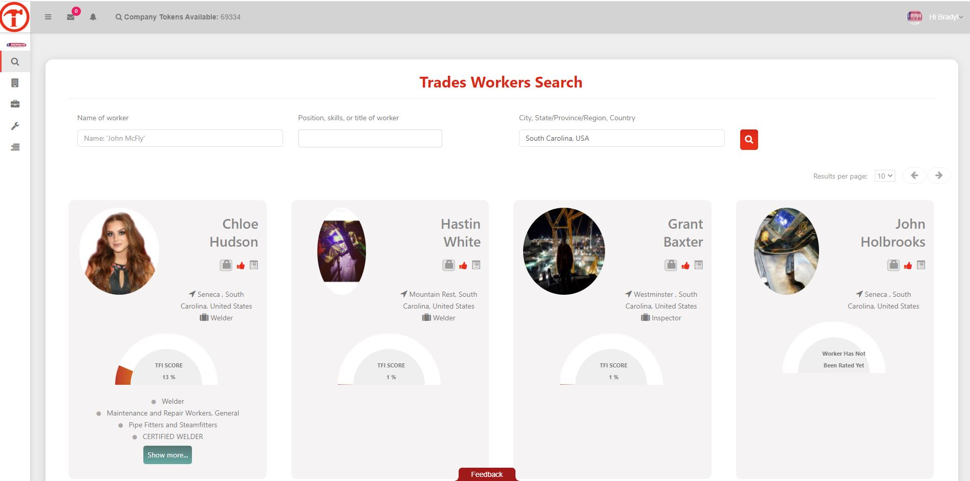 Search for skilled workers in our database of tens of thousands.
