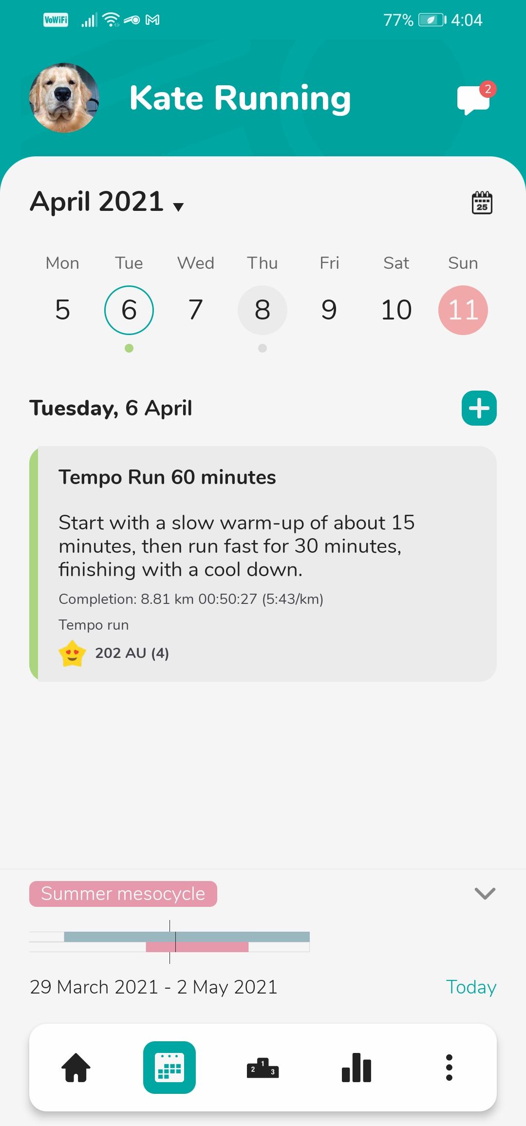 Android app calendar