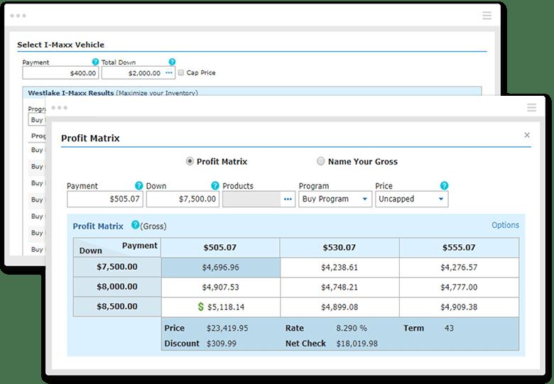 DealerCenter Software - DealerCenter deals overview screenshot