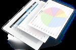 Captura de pantalla de MantisBT: Analytics capabilities (MantisHub) provide visualized data feedback on multiple areas of individual and team performance