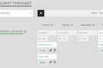 Cronforce screenshot: Intuitive and flexible timesheet formats geared to save your employees time