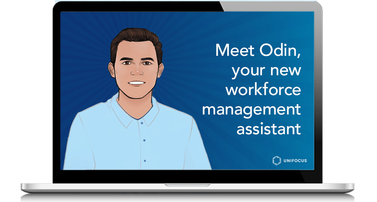 Odin is the UniFocus digital assistant, supporting managers with key business insights.
