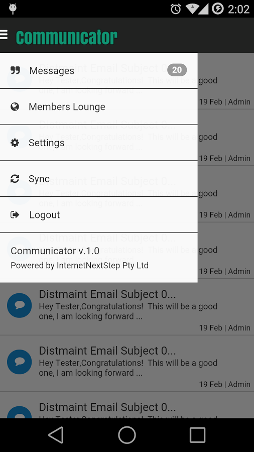 With the Communicator app, users can view messages and access the 'members lounge'