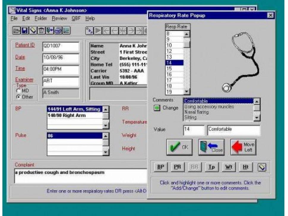 Q.D. Clinical Software - Vital signs