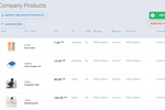 Precoro screenshot: You can easily upload Product catalog and use to save 80% of time while raising requests or orders