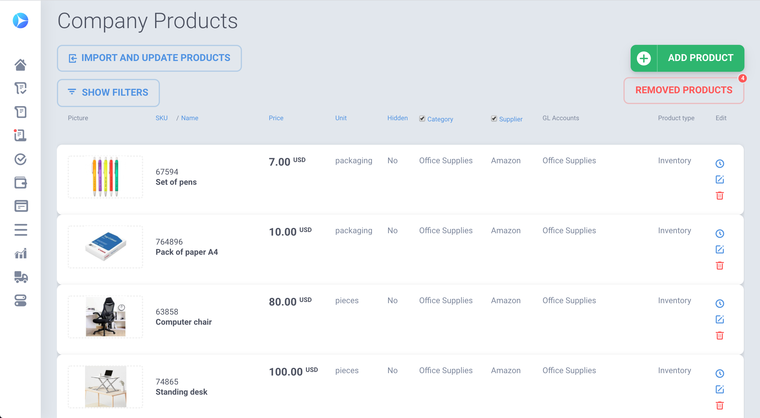 You can easily upload Product catalog and use to save 80% of time while raising requests or orders