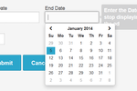 AdPlugg screenshot: Ads can be scheduled to start and stop on specific dates
