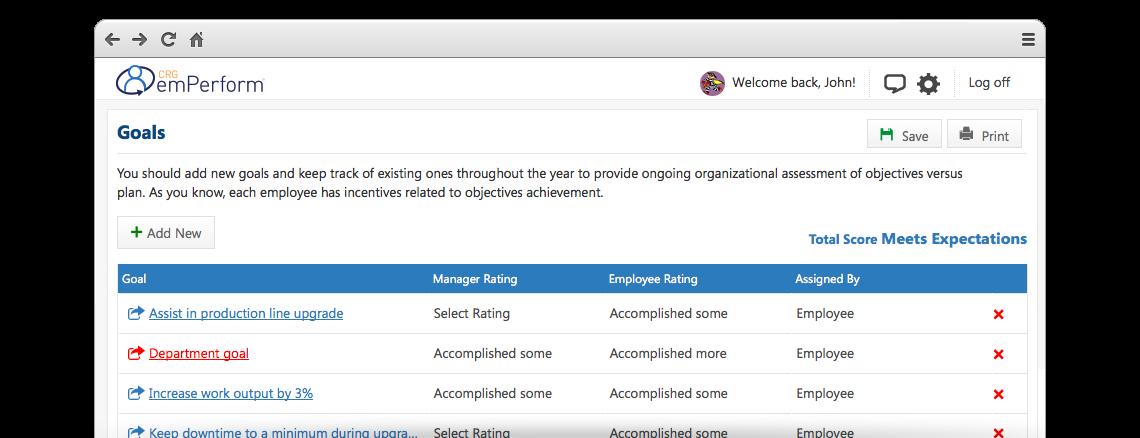 emPerform Software - Goals