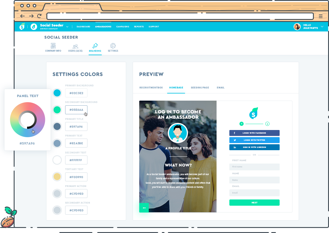 Customize the platform to remain true to brand and style guides