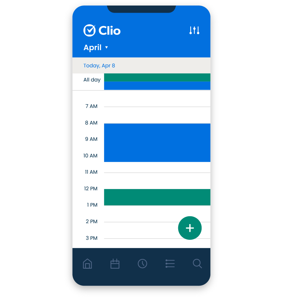 Access your matters, documents, contacts, notes, and calendar from your mobile device.
