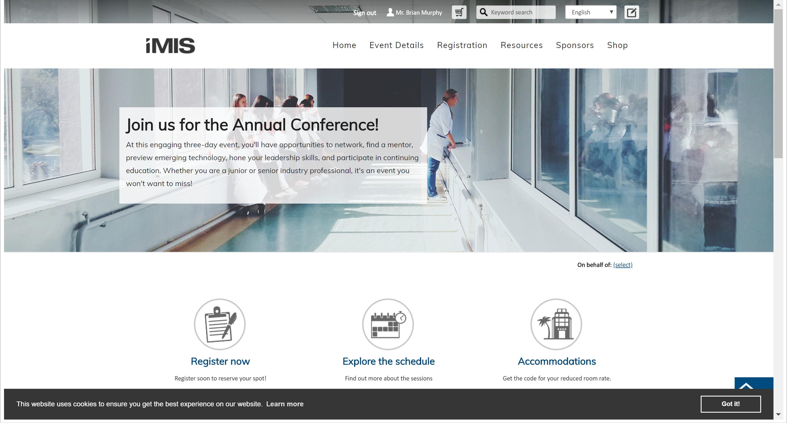 iMIS Website (sample theme)