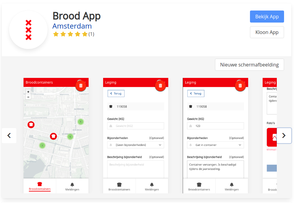 Public or private app store for apps of your organisation