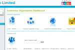 VISITOR screenshot: The Contractor Dashboard gives full access to all Contractor Information