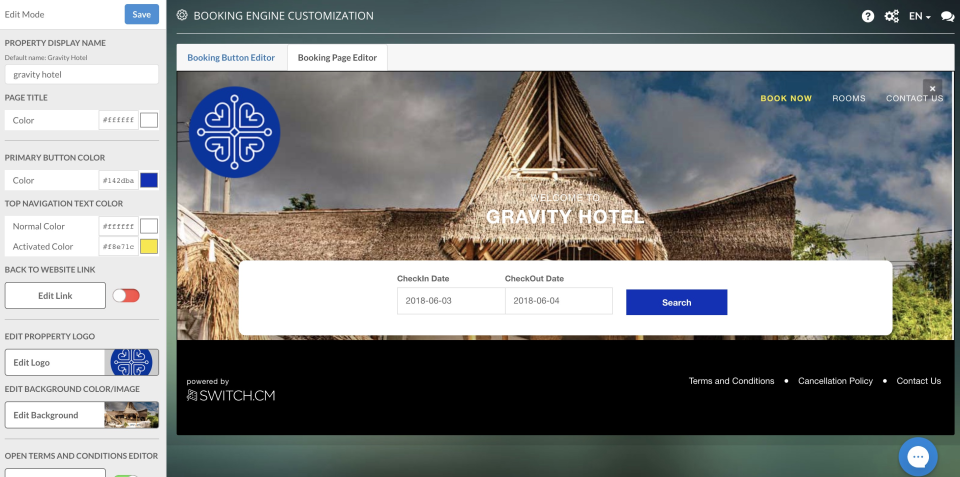SWITCH.CM booking engine