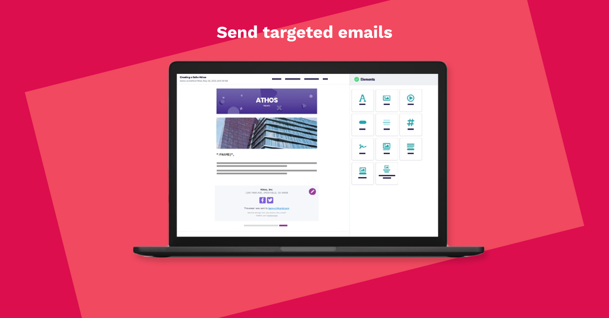 Drag-and-drop email builder