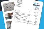 JobFLEX screenshot: Customized and branded invoices