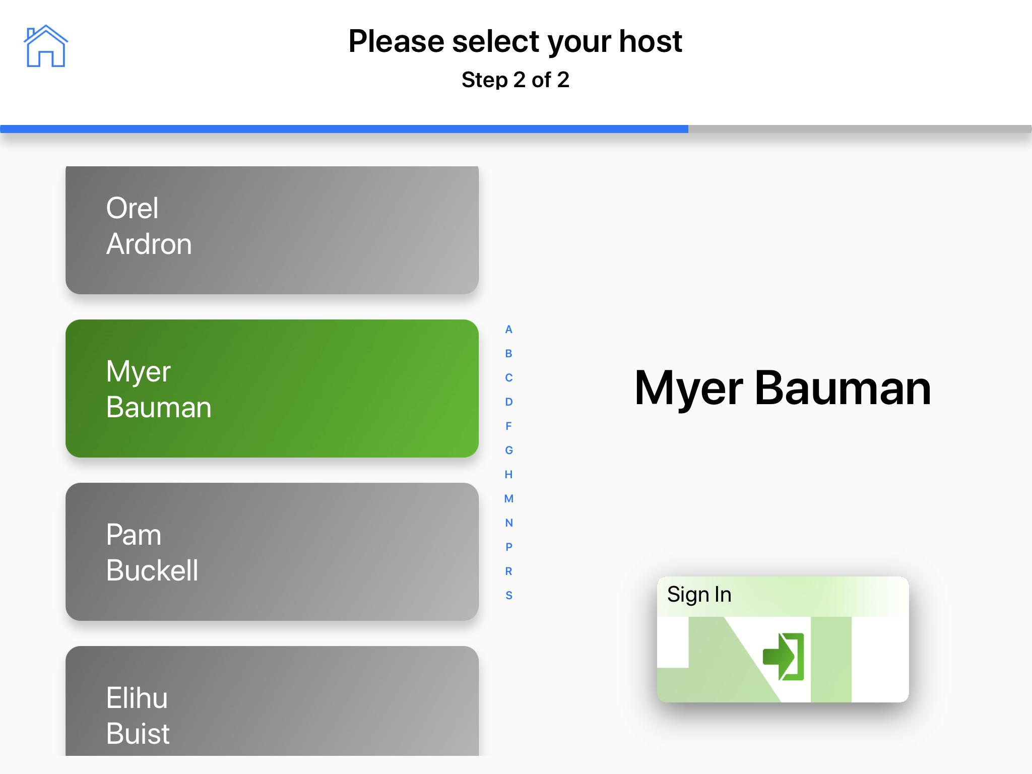 Select host