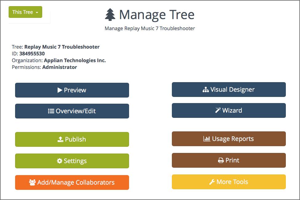 Zingtree Software - Manage script tree