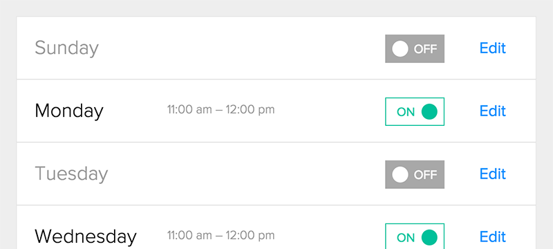 Calendly allows users to set their availability
