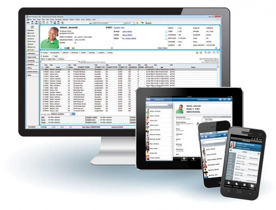 Administrator's Plus Software - Mobile devices