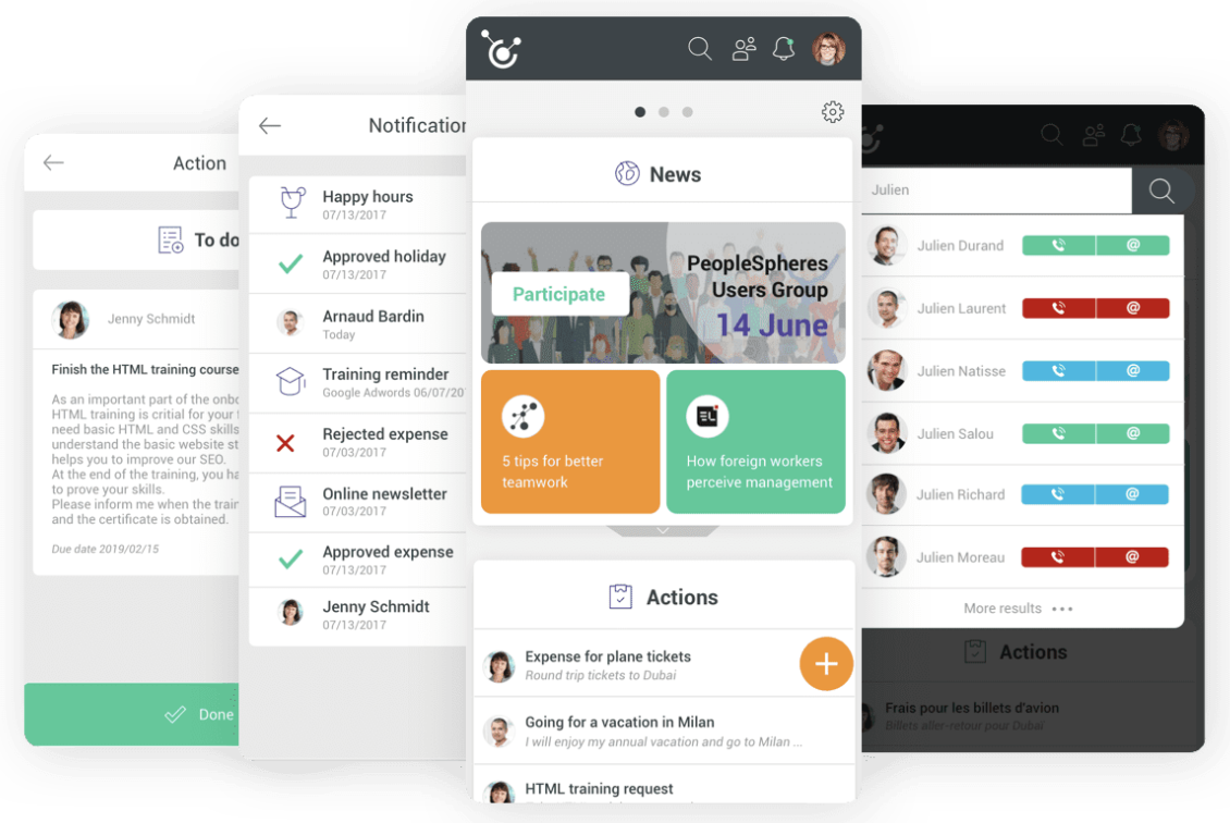 PeopleSpheres - mobile app