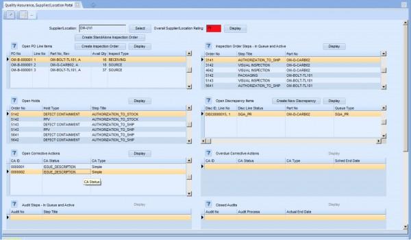 iBASEt Solumina Manufacturing Execution System (MES) quality assurance screenshot
