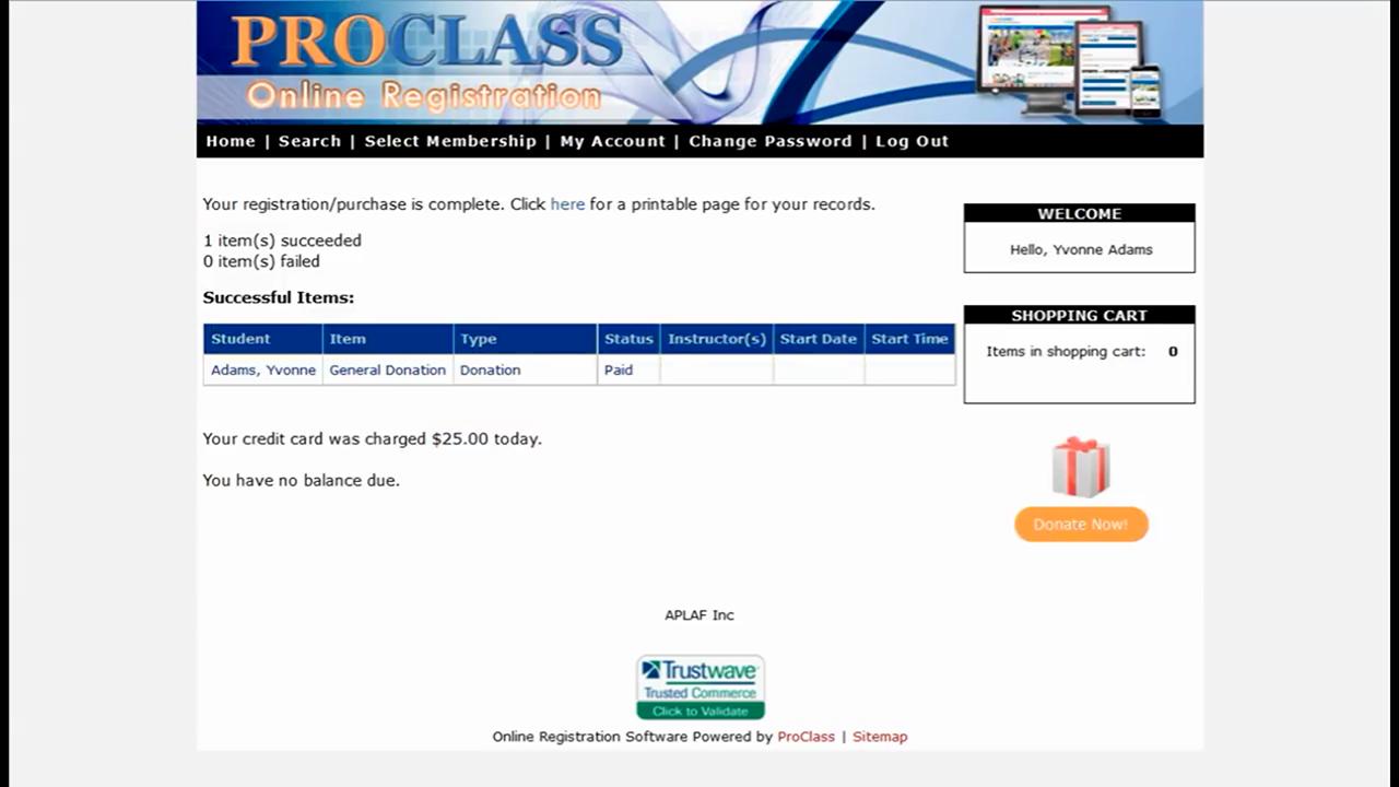 ProClass Software - ProClass online registration