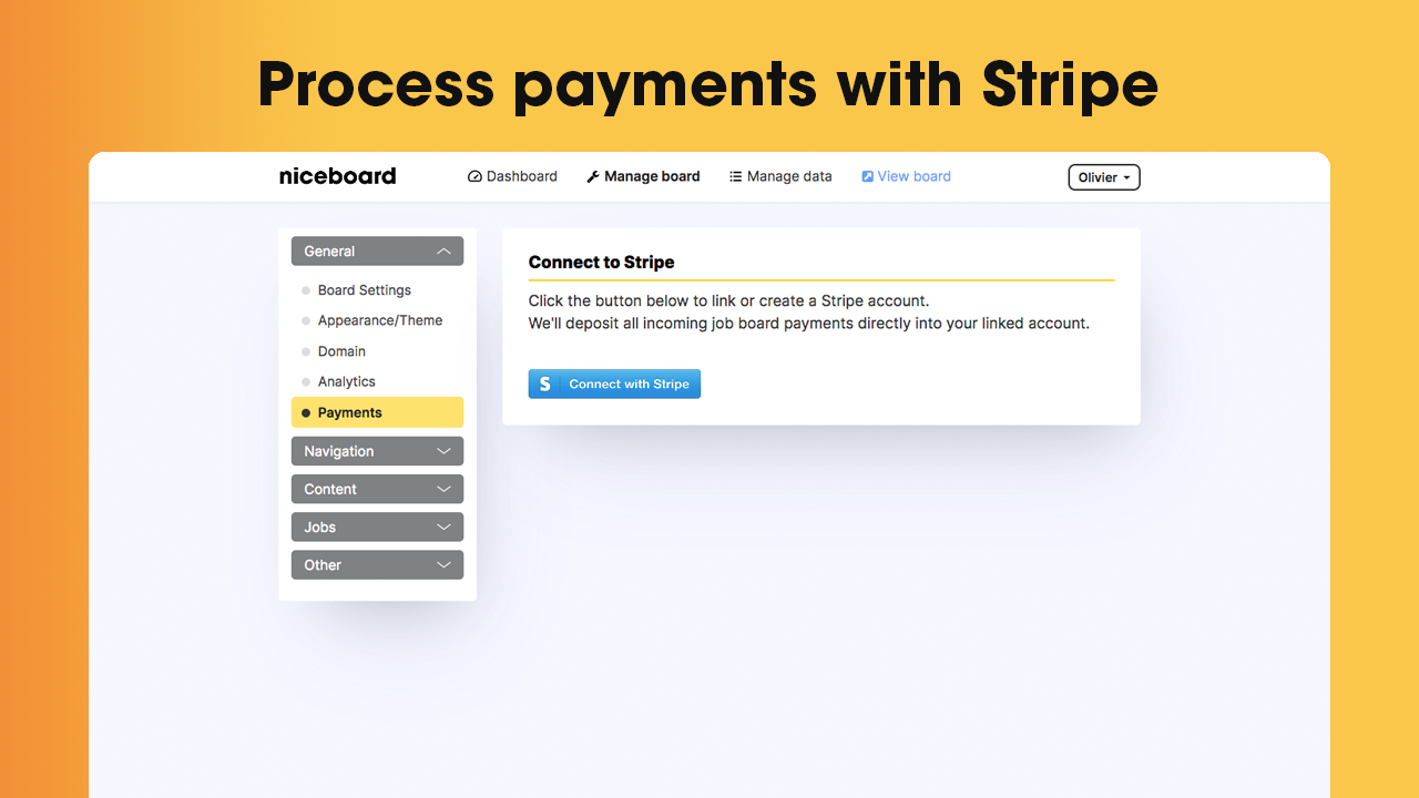 Process payments from day one