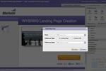 Captura de pantalla de Marketo Engage: Landing page creation