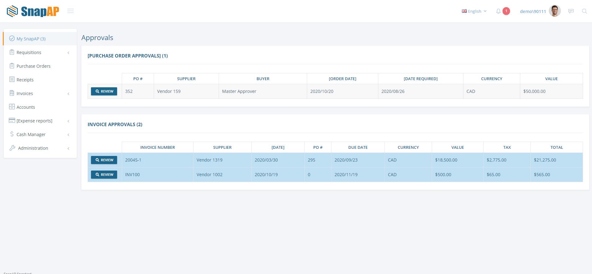SnapAP Software - Streamline approval process