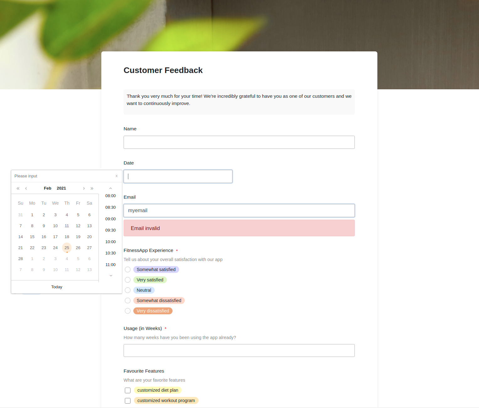 Do you have to regularly record data from your employees or business partners? With SeaTable you can create online forms in no time at all, which you can send to the respective recipients via a link. The entered data ends up directly in SeaTable.