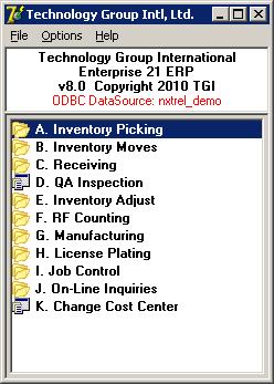 Enterprise 21 ERP Software - RF Handheld Warehouse Management System