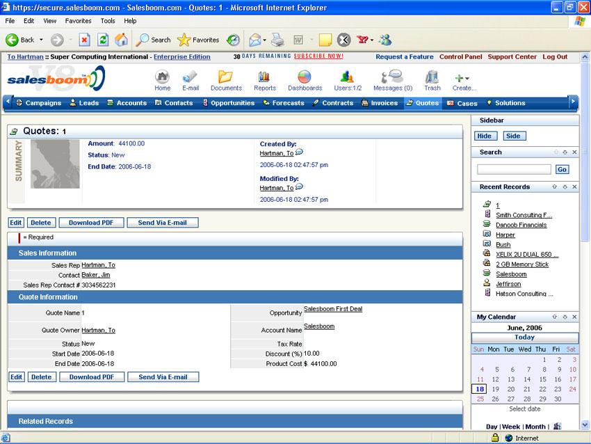 Salesboom CRM Suite Software - 1