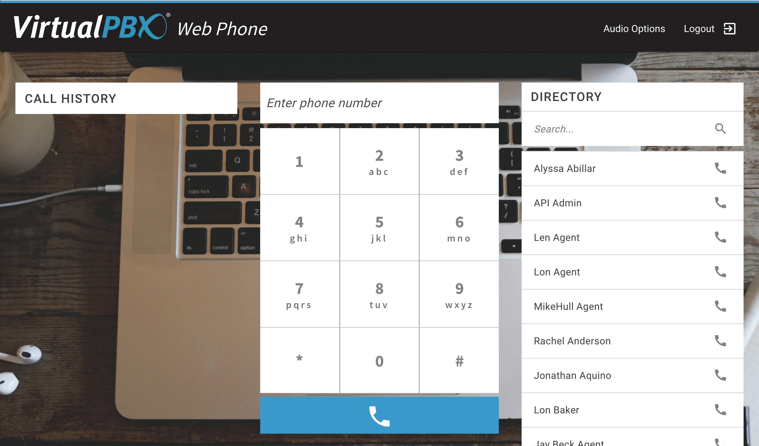 VirtualPBX Software - Web Phone