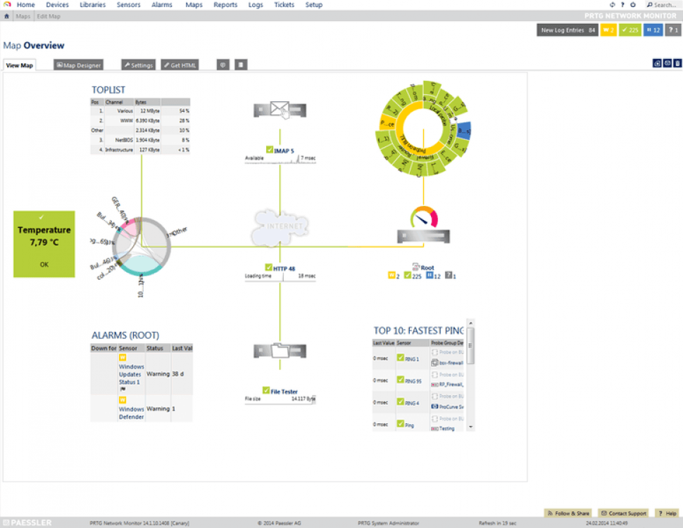 PRTG Network Monitor Software - Network mapping
