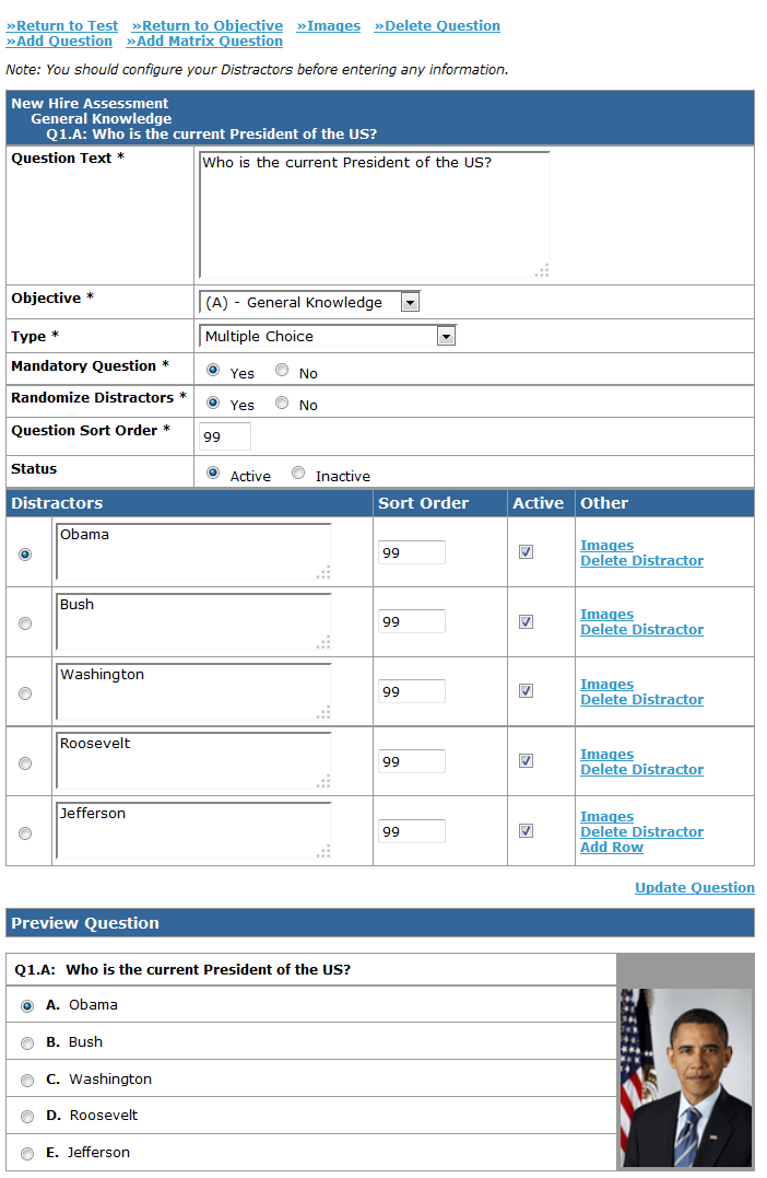 Latitude LMS assessment authoring features support various question types