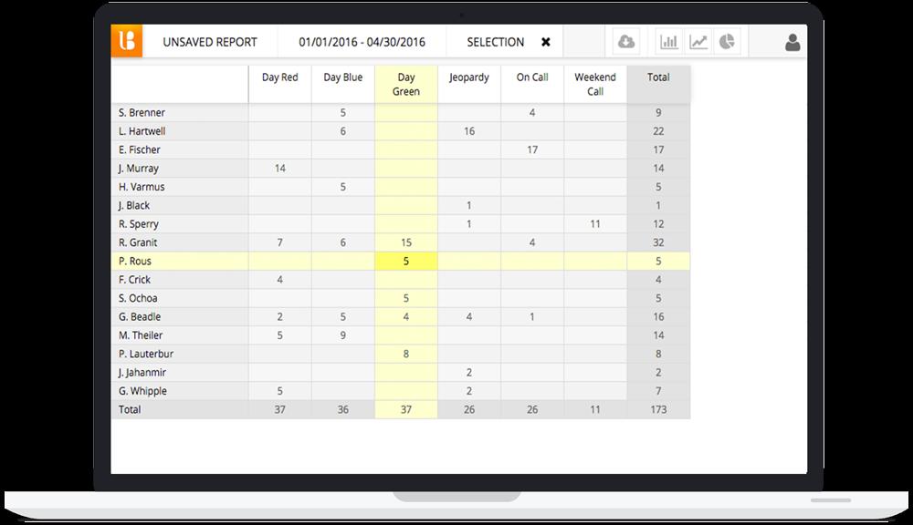 Lightning Bolt Software - Report grid