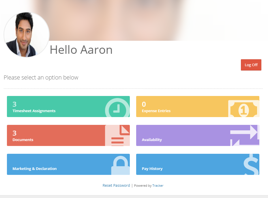 Tracker Software - Candidate Portal