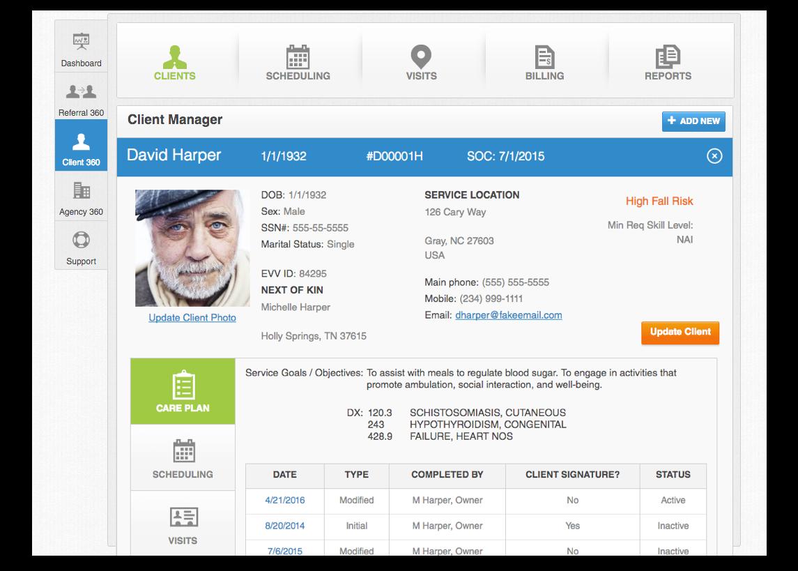 Savii Care Client Manager