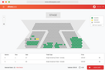 Captura de pantalla de Showpass: Let your attendees get a glimpse of what they're buying and easily choose where they want to sit, with customized layouts