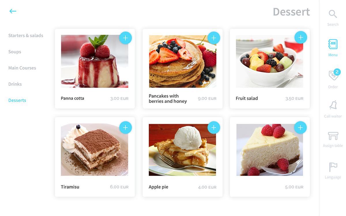 Online menu