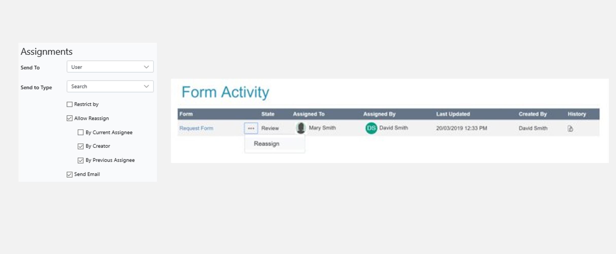 Intelledox form activity