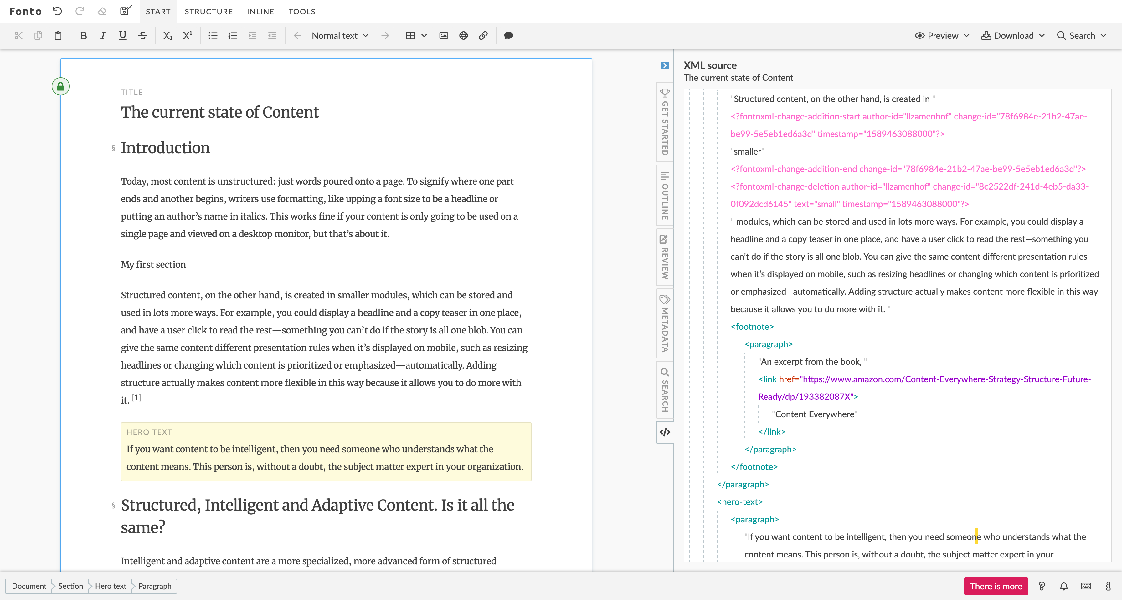 Fonto Editor XML View