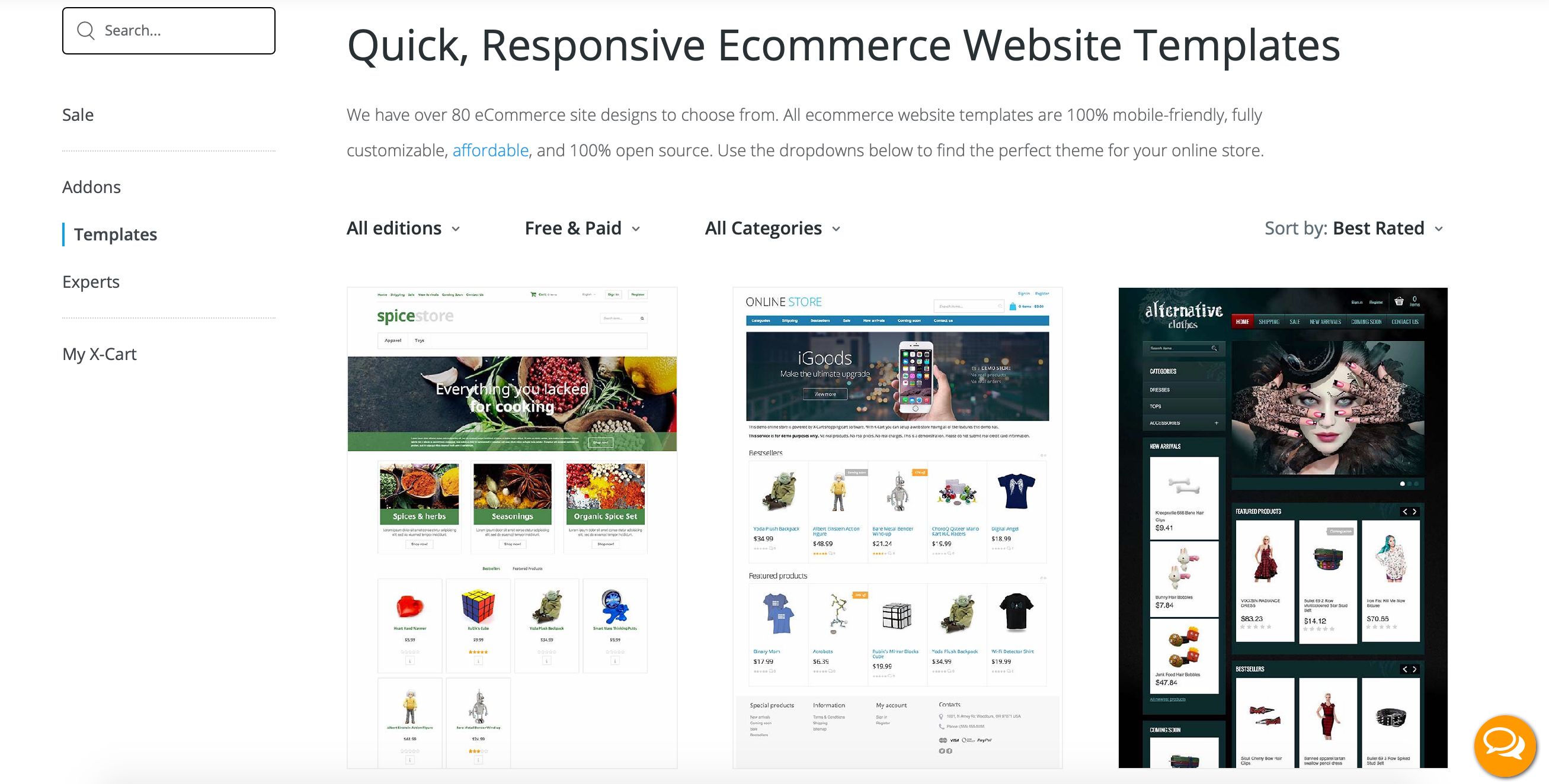 Graphic themes store right in the admin backend