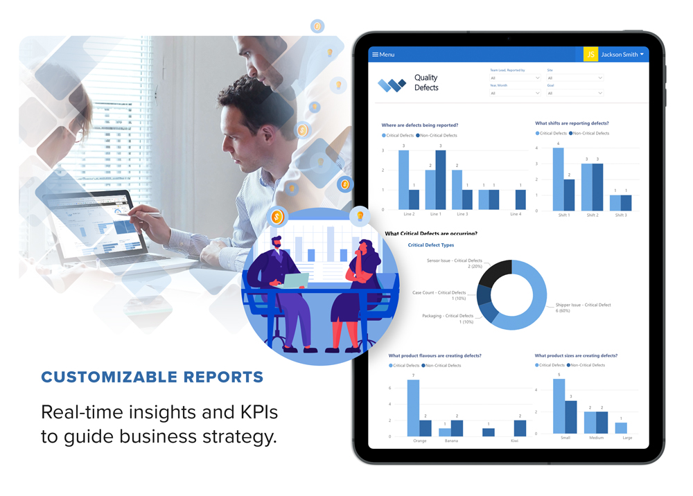 Customizable Reports - Real-time insights and KPIs to guide business strategy.