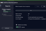 Captura de tela do AVG Antivirus Business Edition: View progress of computer scans