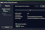 AVG Antivirus Business Edition screenshot: View progress of computer scans